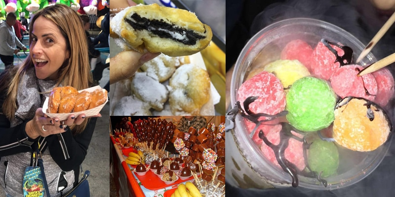 SEF dessert food collage
