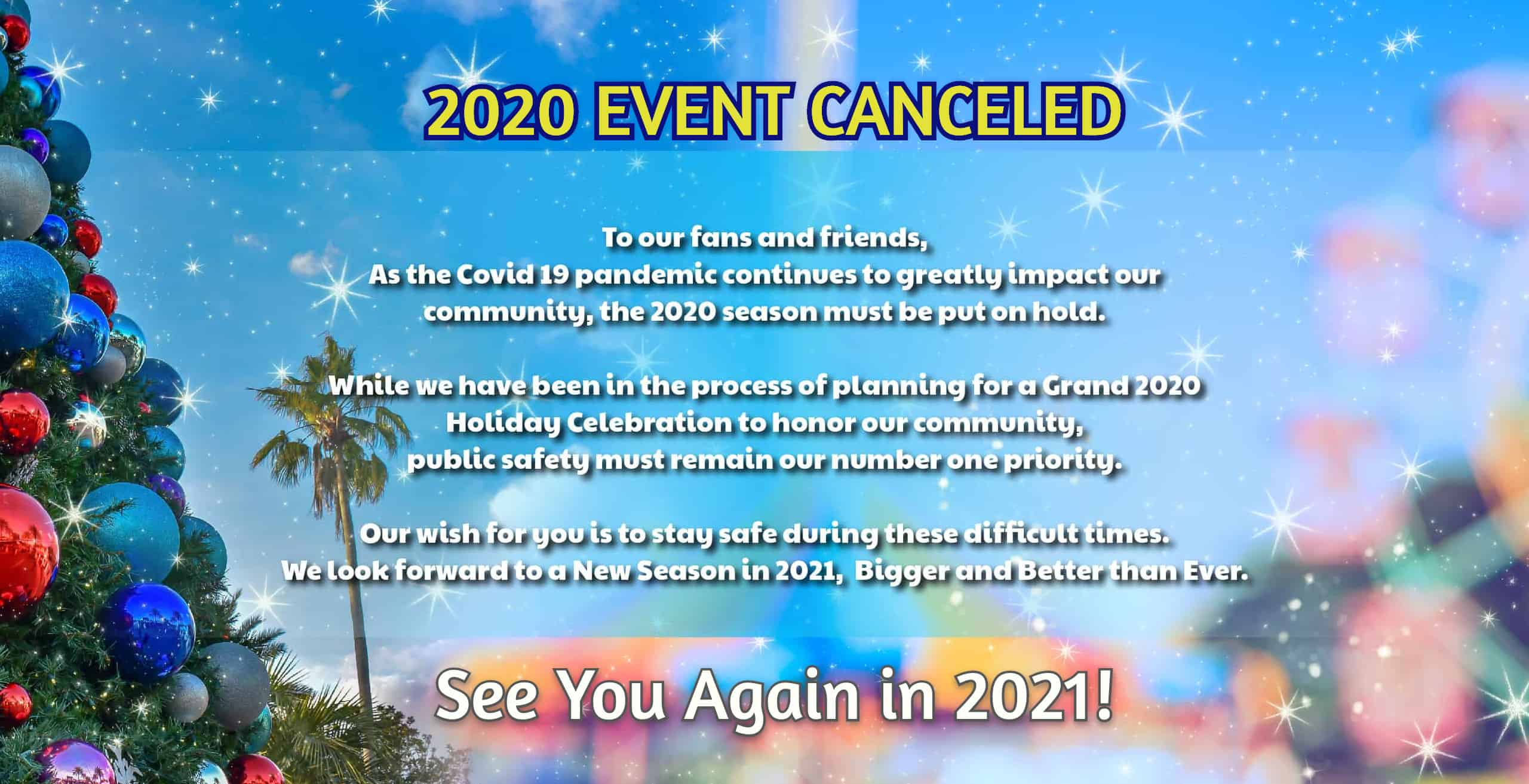 2020 Event Canceled