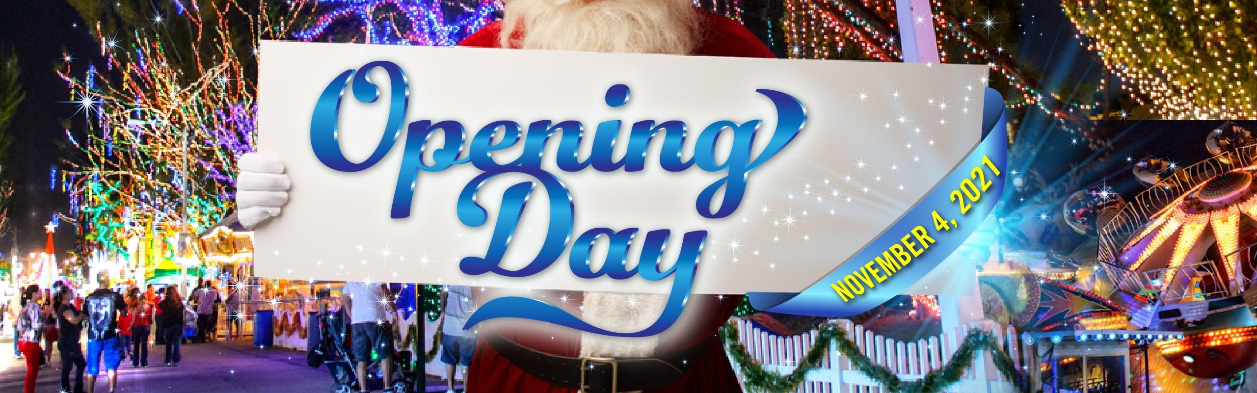 Opening Day Nov 4, 2021